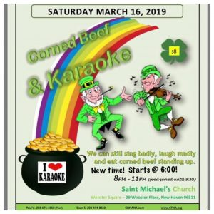 Corned Beef & Karaoke @ St Michael's Church | New Haven | Connecticut | United States