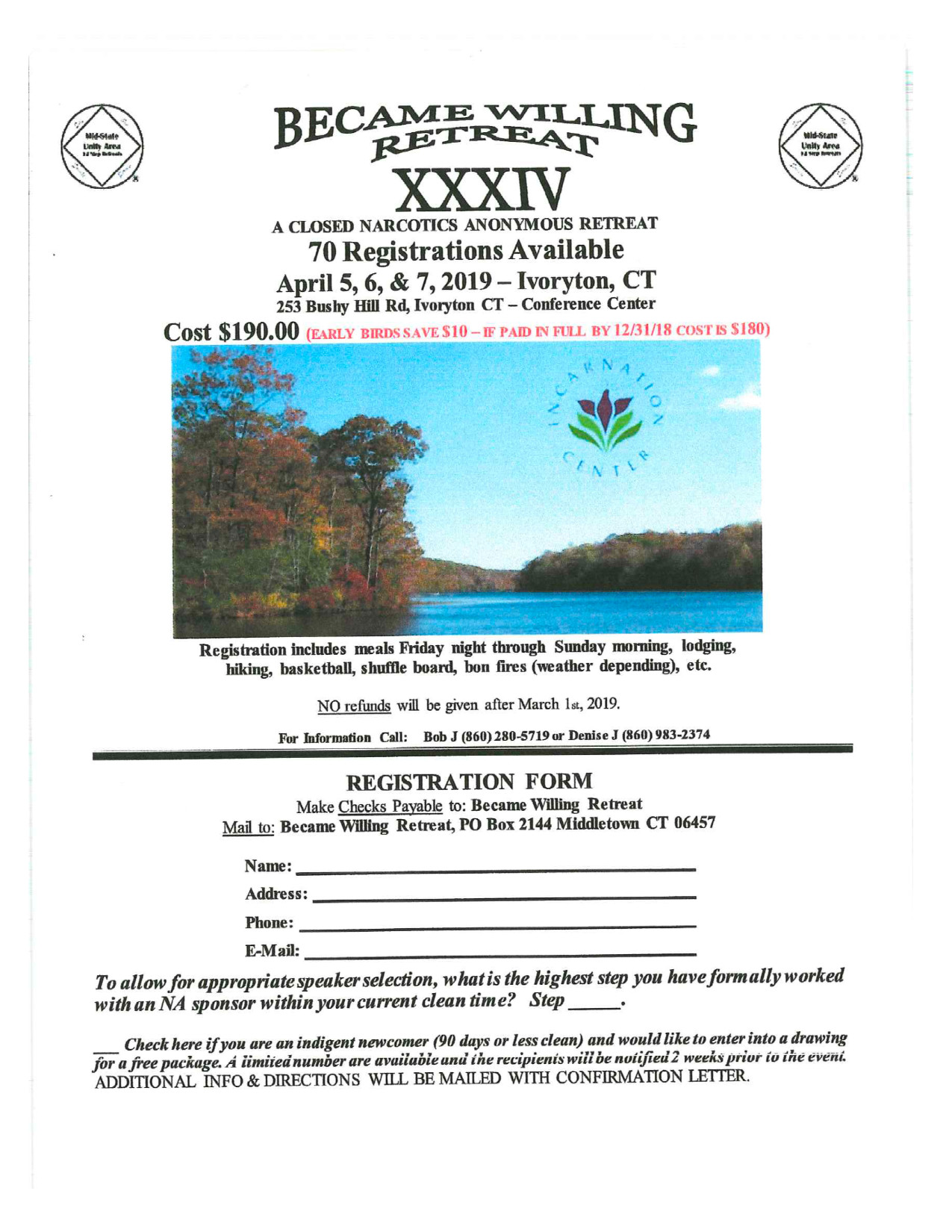 Became Willing Retreat XXXIV - Connecticut Region of