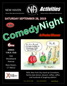 GNHA - Comedy Night & Pasta Dinner @ Annex Y.M.A. Club | New Haven | Connecticut | United States