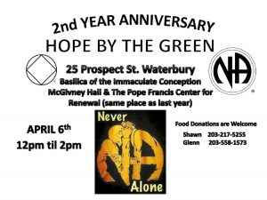 Hope By The Green 2nd Anniversary @ Basilica of the Immaculate Conception McGivney Hall | Waterbury | Connecticut | United States