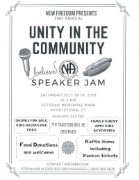 Unity in the Community Speaker Jam @ Veterans Memorial Park | Middletown | Connecticut | United States