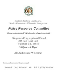 SFCA Policy Resource Committee @ Saugatuck Congregational Church  | Westport | Connecticut | United States