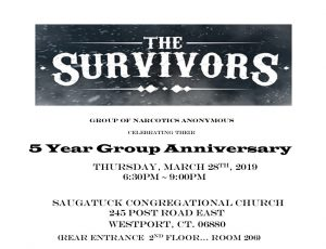 The Survivors 5 Year Group Anniversary @ Saugatuck Congregational Church | Westport | Connecticut | United States