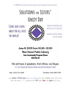 Solutions for Sisters' Unity Day @ New Haven Library | New Haven | Connecticut | United States