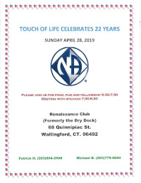 Touch of Life 22nd Anniversary @ Renaissance Club (Formerly Dry Dock) | Wallingford | Connecticut | United States