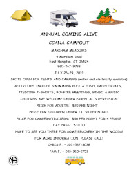 Annual Coming Alive CCANA Campout @ Markham Meadows Campgrounds | East Hampton | Connecticut | United States