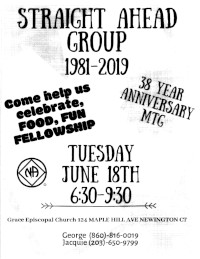 Straight Ahead Group 38 Year Anniversary @ Grace Episcopal Church | Newington | Connecticut | United States