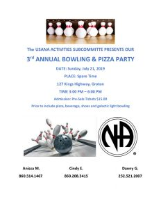 3rd Annual Bowling And Pizza Party @ Spare Time | Groton | Connecticut | United States