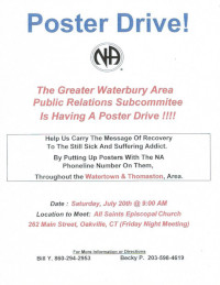 GWA - PR Poster Drive @ All Saints Episcopal Church | Watertown | Connecticut | United States