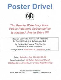 GWA - PR Poster Drive @ All Saints Episcopal Church | Watertown | Connecticut | United States