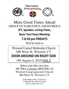 More Good Times Ahead Group One Night Only Location Change @ Winsted United Methodist Church | Winchester | Connecticut | United States