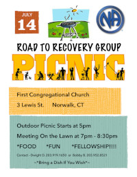 Road To Recovery Summer Picnic @ First Congretional Church | Norwalk | Connecticut | United States