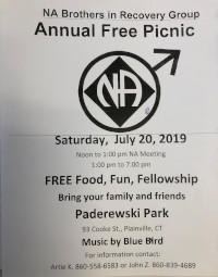 Brothers in Recovery Annual Picnic @ Paderewski Park | Plainville | Connecticut | United States