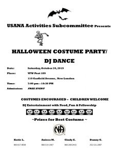 USA Presents Halloween Costume Party/ DJ Dance @ New London VFW Post 189 | New London | Connecticut | United States