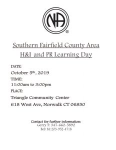 SFCA H&I and PR Learning Day @ Triangle Community Center | Norwalk | Connecticut | United States