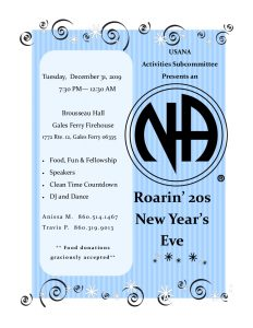 USANA Roarin' 20's New Years Eve @ Brousseau Hall Gales Ferry Fire House | Ledyard | Connecticut | United States