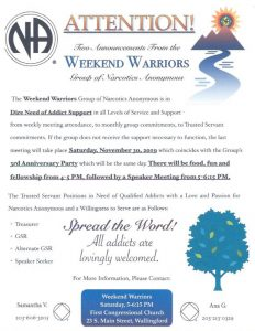 Weekend Warriors 3rd Anniversary @ First Congregational Church | Wallingford | Connecticut | United States