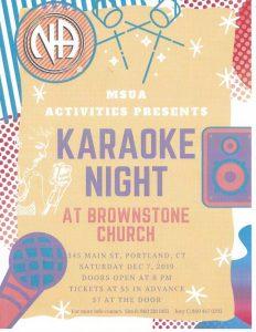 MSUA Karaoke Night @ Trinity Episcopal Church | Portland | Connecticut | United States