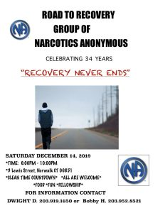 Road To Recovery Group Celebrating 34 Years @ First Congregational Church | Norwalk | Connecticut | United States