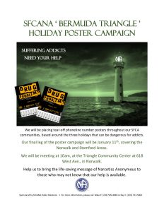 SFCA PR Holiday Poster Campaign @ Triangle Community Center | Norwalk | Connecticut | United States