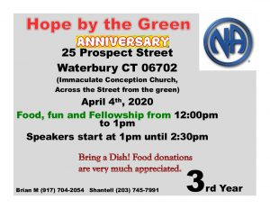 CANCELED Hope By The Green 3 Year Anniversary @ St. Mary's Grammar School | Waterbury | Connecticut | United States