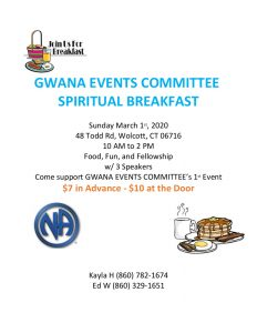 GWA Spiritual Breakfast @ Wolcott Activity and Learning Center | Wolcott | Connecticut | United States
