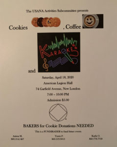 USA Cookies, Coffee & Karaoke @ American Legion Hall | New London | Connecticut | United States