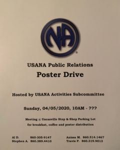 USA PR Poster Drive @ Uncasville Stop & Shop Parking Lot | Montville | Connecticut | United States