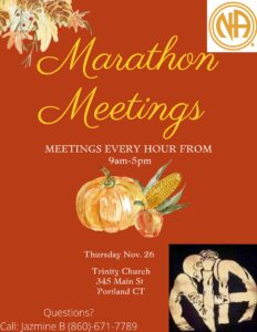 MSUA Thanksgiving Marathon Meetings @ Trinity Church | Portland | Connecticut | United States
