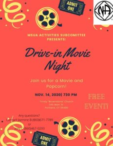 Drive In Movie Night @ Trinity Church | Portland | Connecticut | United States