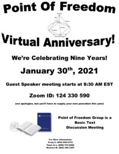 Point Of Freedom 9th 'Virtual' Anniversary @ Meeting Virtually