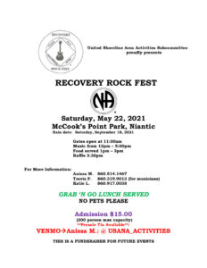 USA Recovery Rock Fest 2021 @ McCook's Point Park | East Lyme | Connecticut | United States