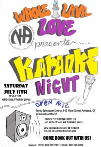 Whole Lava Love Presents Karaoke & Open Mic Night @ Trinity Episcopal Church | Portland | Connecticut | United States