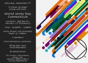 World Unity Day - CT @ Upper Room Christian Center (Field) | Meriden | Connecticut | United States