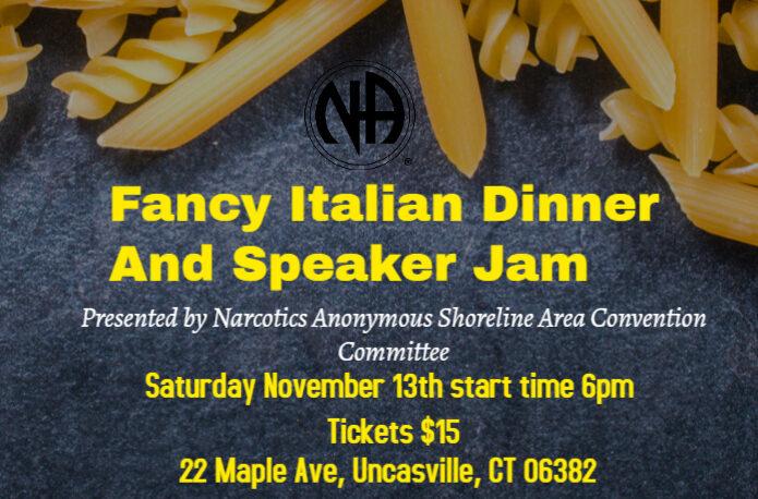 flyer for Fancy Italian Dinner