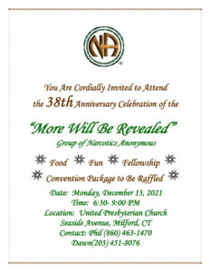 GNHA - More Will Be Revealed 38th Group Anniversary @ United Presbyterian Church | Milford | Connecticut | United States