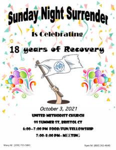 TVA- Sunday Night Surrender 18th Anniversary @ United Methodist Church | Bristol | Connecticut | United States