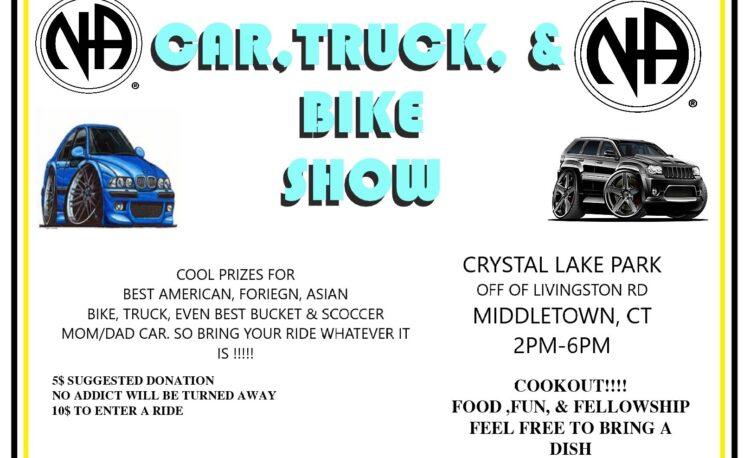 car truck bike show cookout flyer