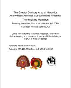 GDA Thanksgiving Day Marathon @ Community of the Cross | Danbury | Connecticut | United States