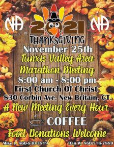 TVA Thanksgiving Marathon Meetings @ First Church of Christ | New Britain | Connecticut | United States